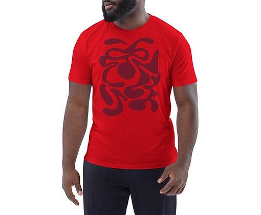 Men's organic cotton t-shirt Hidden burgundy