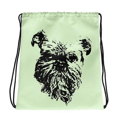 Green Drawstring bag Griffon bruxellois 2