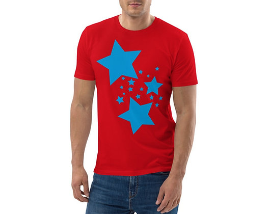 Men's organic cotton t-shirt Blue stars