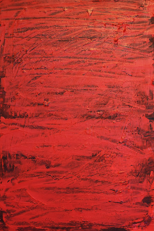 Painting Red frenzy
