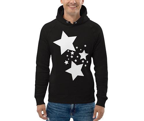 Men's Eco Hoodie White stars