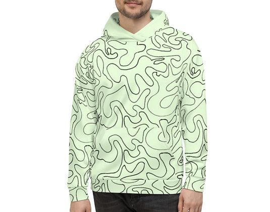 Men's Hoodie Figures Green