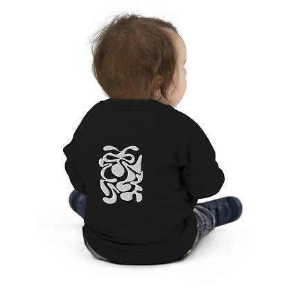 Baby Organic Bomber Jacket Hidden white