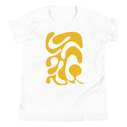Youth Short Sleeve T-Shirt One line yellow