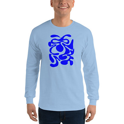 Men's Long Sleeve Shirt Hidden blue