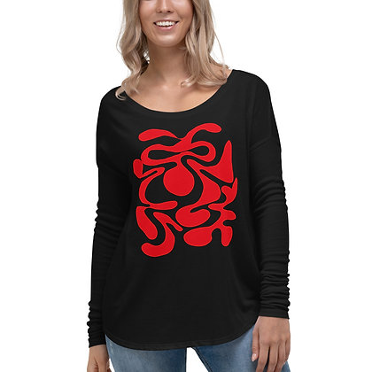 Ladies' Long Sleeve Tee Hidden red