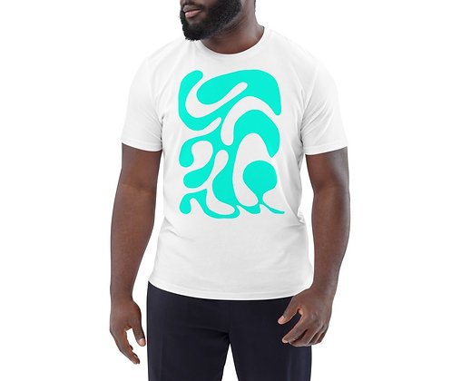 Men's organic cotton t-shirt One line turquoise
