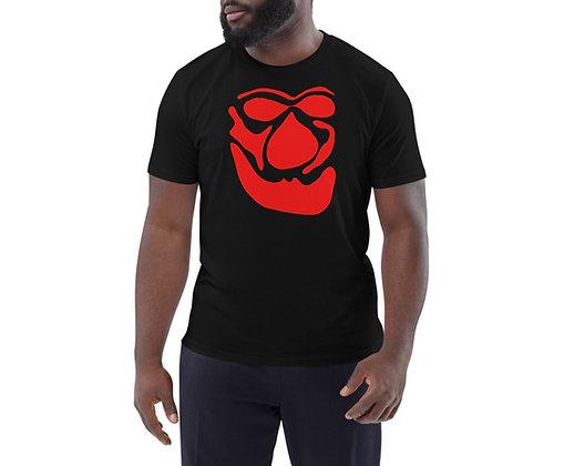 Men's organic cotton t-shirt Face red