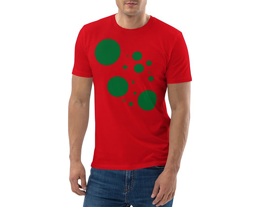 Men's organic cotton t-shirt Green dots