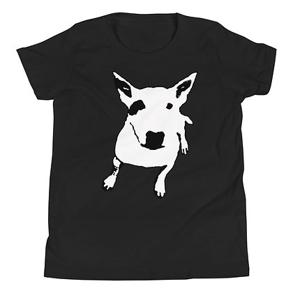Youth Short Sleeve T-Shirt white Bull Terrier