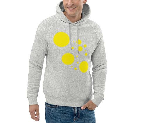 Men's Eco Hoodie Yellow dots