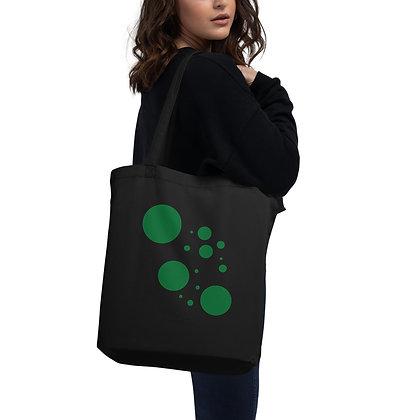 Eco Tote Bag Green dots