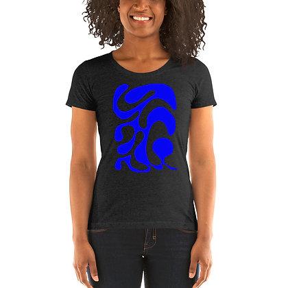 Ladies' short sleeve t-shirt One line blue