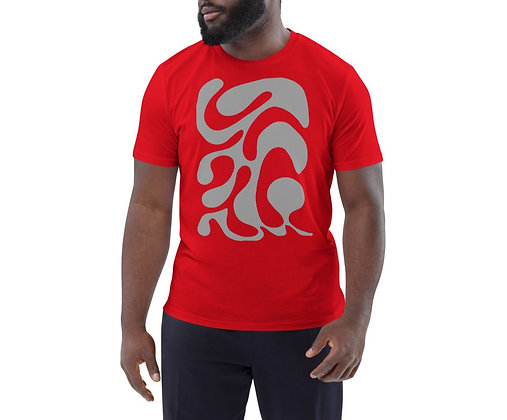 Men's organic cotton t-shirt One line grey