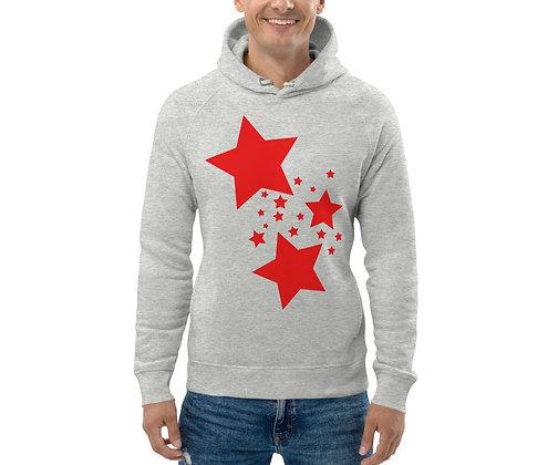 Men's Eco Hoodie Red stars