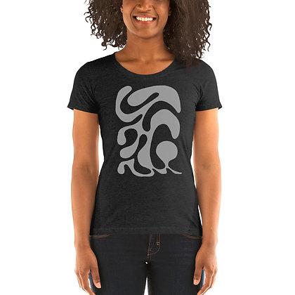 Ladies' short sleeve t-shirt One line grey