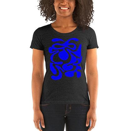 Ladies' short sleeve t-shirt Hidden blue
