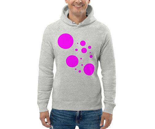 Men's Eco Hoodie Pink dots