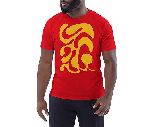 Men's organic cotton t-shirt One line yellow