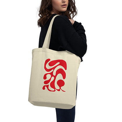 Eco Tote Bag One line red