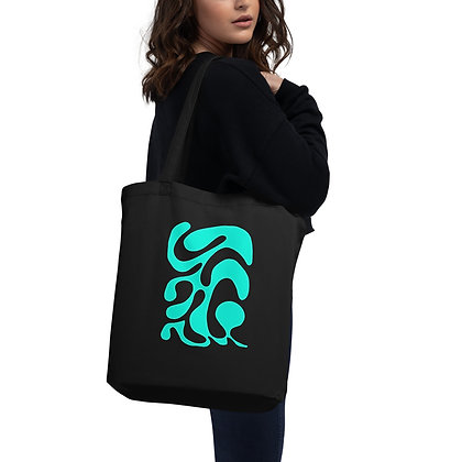 Eco Tote Bag One line turqoise