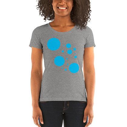 Ladies' short sleeve t-shirt Blue dots