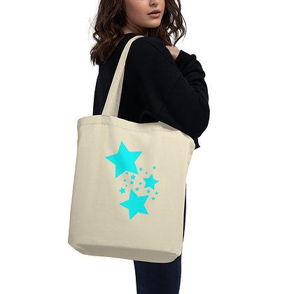 Eco Tote Bag Turqoise stars
