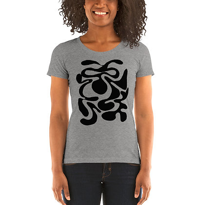 Ladies' short sleeve t-shirt Hidden black
