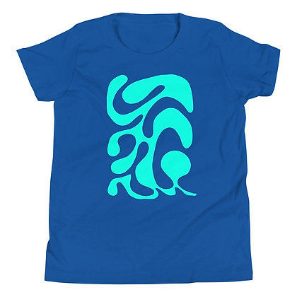 Youth Short Sleeve T-Shirt One line turquoise