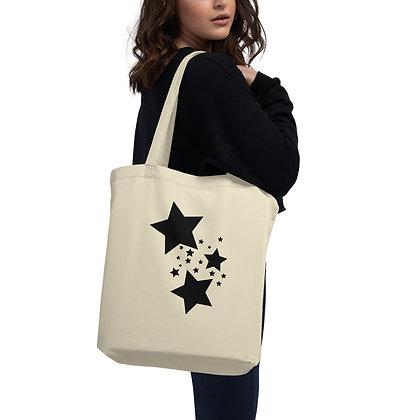 Eco Tote Bag Black stars