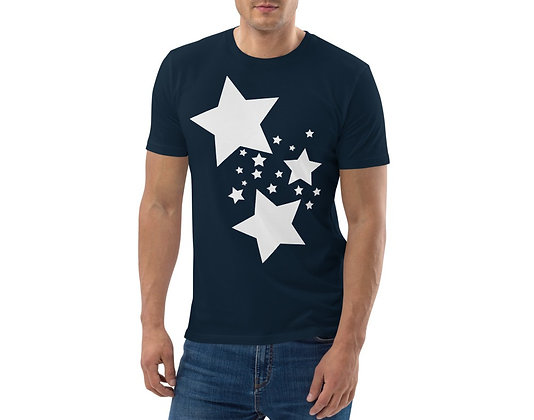 Men's organic cotton t-shirt White stars
