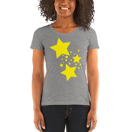 Ladies' short sleeve t-shirt Yellow stars