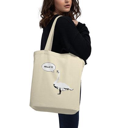 Eco Tote Bag Swan Hello