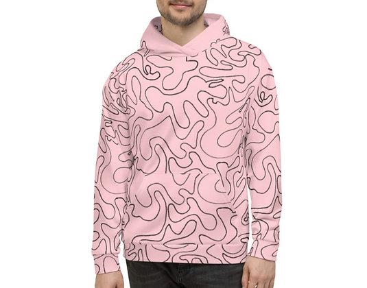 Men's Hoodie Figures Pink