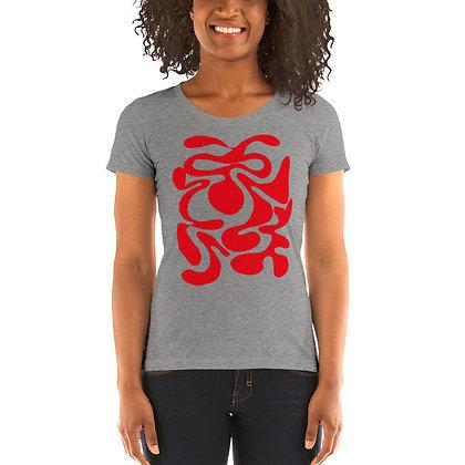 Ladies' short sleeve t-shirt Hidden red