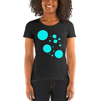 Ladies' short sleeve t-shirt Turqoise dots