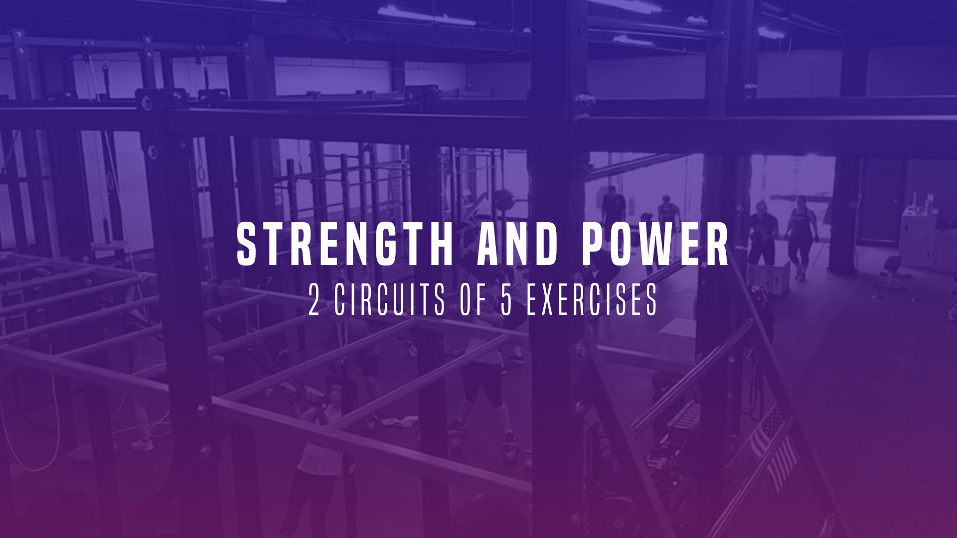 WOD 6: Strength and Power. 2 Circuits of 5 Exercises