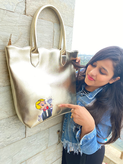 Gold Richie Rich Tote