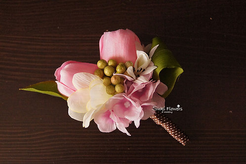 粉紅鬱金香鉸剪蘭豆豆襟花