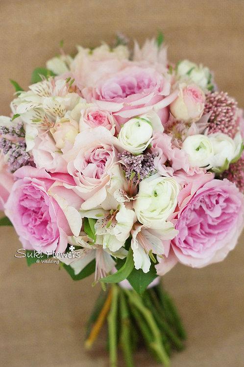 庭園玫瑰日本桔梗雪蓮洋牡丹小百合鮮花花球
