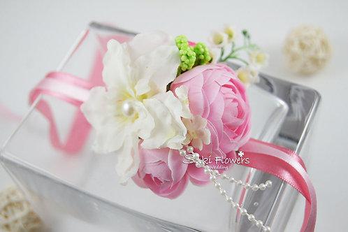 飛燕草鈴鐺花粉紅小牡丹手花