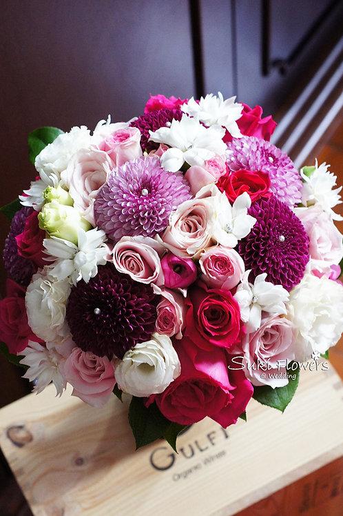 玫瑰乒乓菊桔梗鮮花花球
