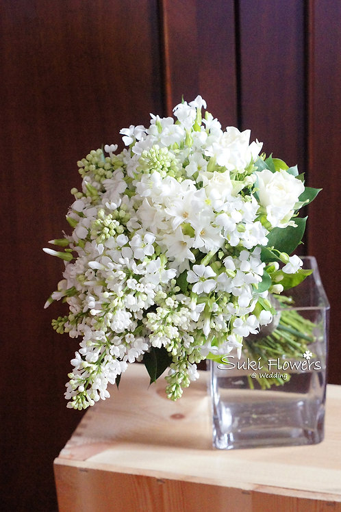 白色丁香小花風信子鮮花花球