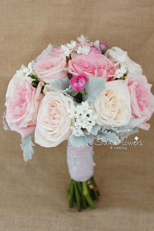 庭園玫瑰小牡丹十字花鮮花花球