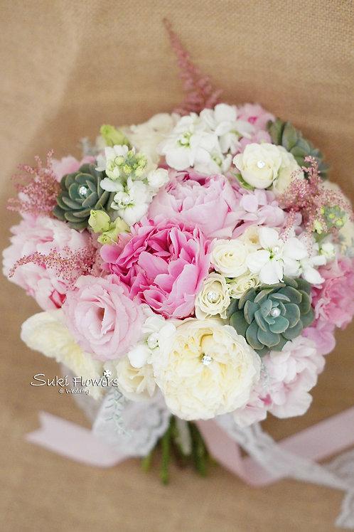 大牡丹庭園玫瑰繡球麝香小玫瑰鮮花花球