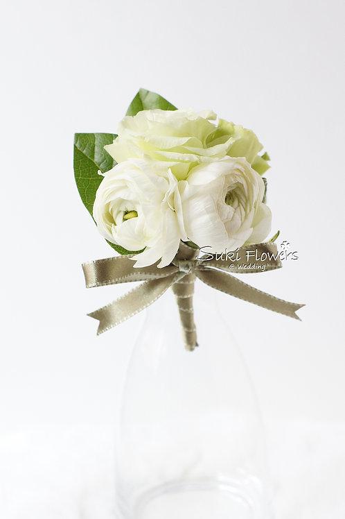 白色洋牡丹桔梗鮮花襟花