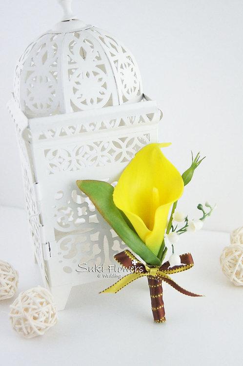 黃色馬蹄蘭襟花