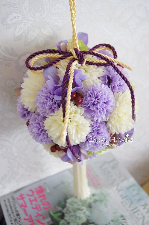 日式乒乓菊雪球波斯菊紅豆手挽絲花花球