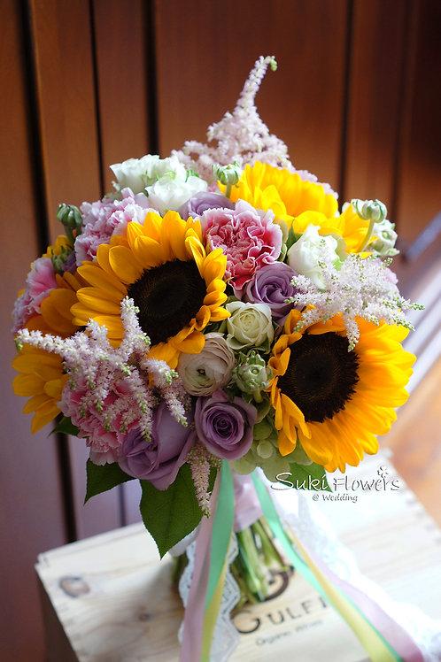 向日葵玫瑰康乃馨繡球鮮花花球