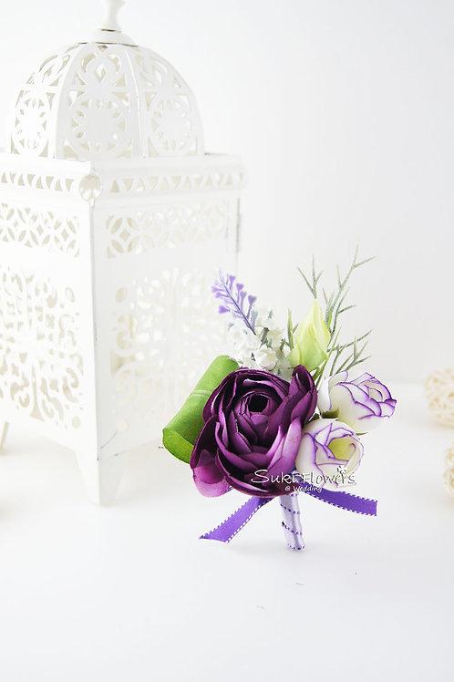 紫紅小牡丹薰衣草襟花